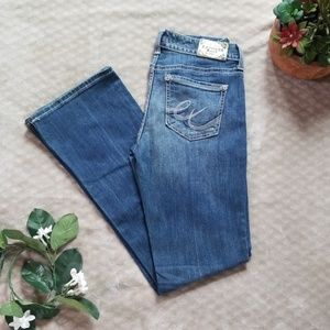 Express womens size 8R boot cut low rise med wash